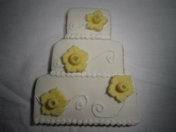 Wedding Cake Cookie Favor