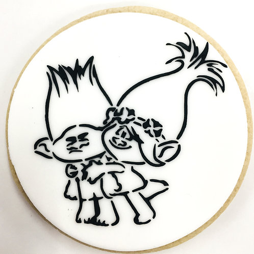 Poppy and Branch (Trolls) Paint Your Own Cookie