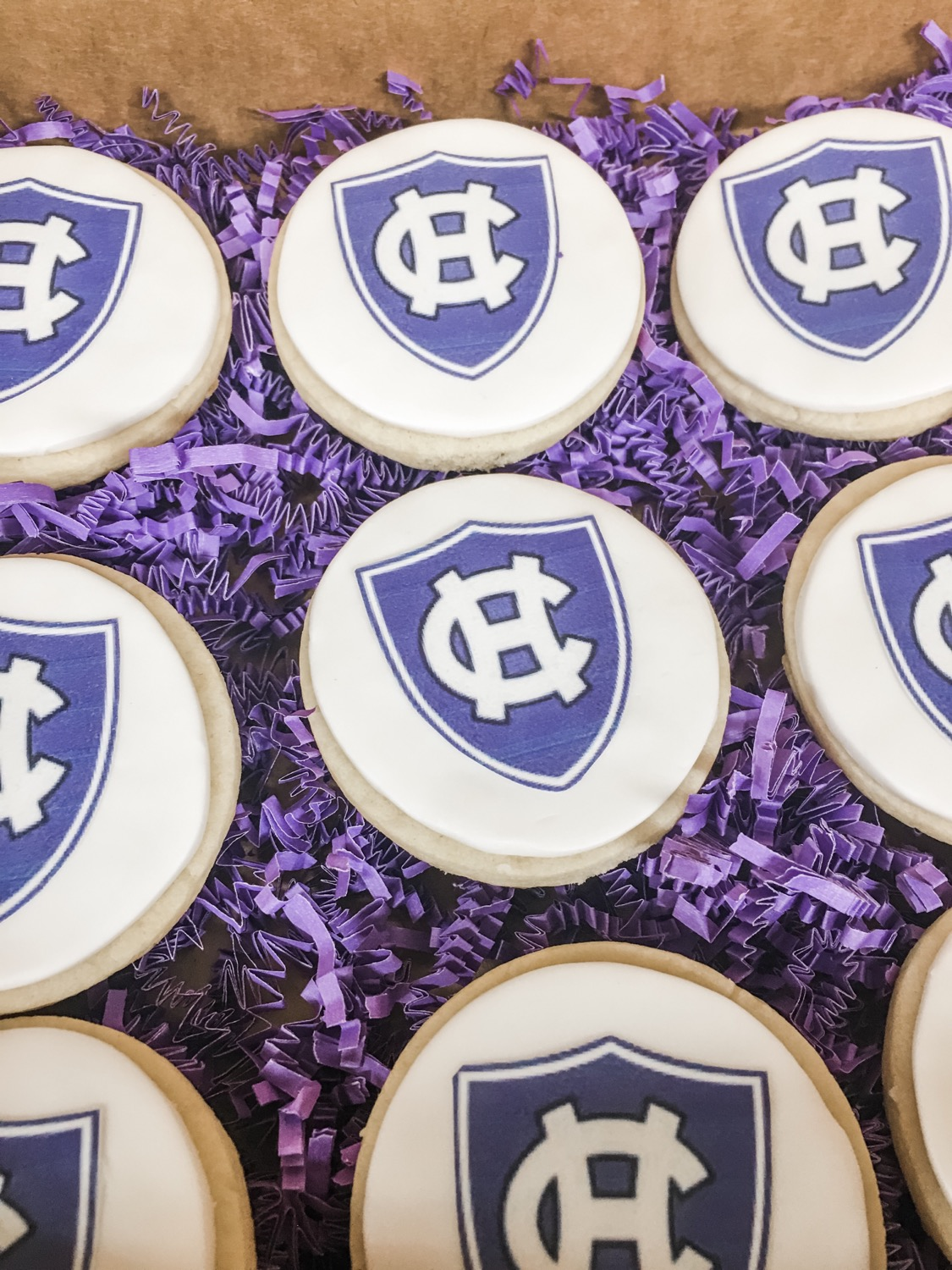 Holy Cross Logo Cookies