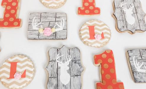Rustic hunting baby cookies