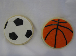 soccer and basketball cookie