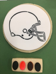 Football Helmet, PYO Cookie, Connecticut