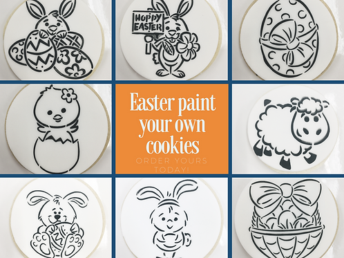 Easter 8 Paint Your Own Cookie Kits