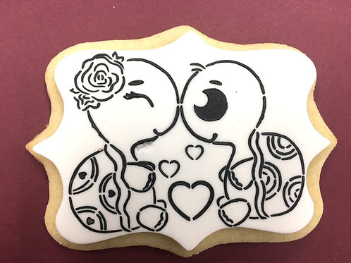 Valentines Turtles Paint Your Own Cookie