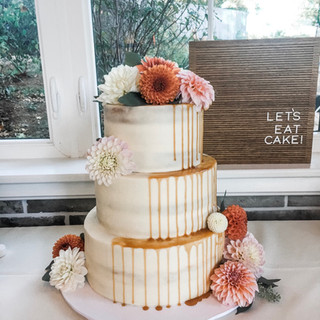 Semi Naked Caramel Drip Cake