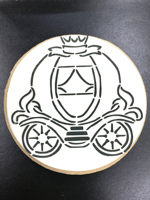Princess Carriage Paint Your Own Cookie
