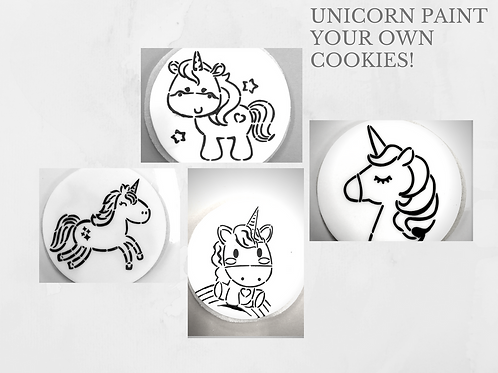 Unicorn Paint Your Own Cookie Single Kit