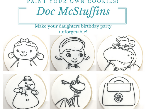 Doc McStuffin Choose Your Own  Paint Your Own Cookie Kits