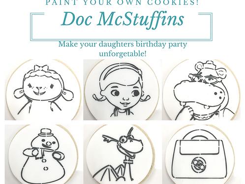 Entire Doc McStuffins Paint Your Own Cookie Kit Collection