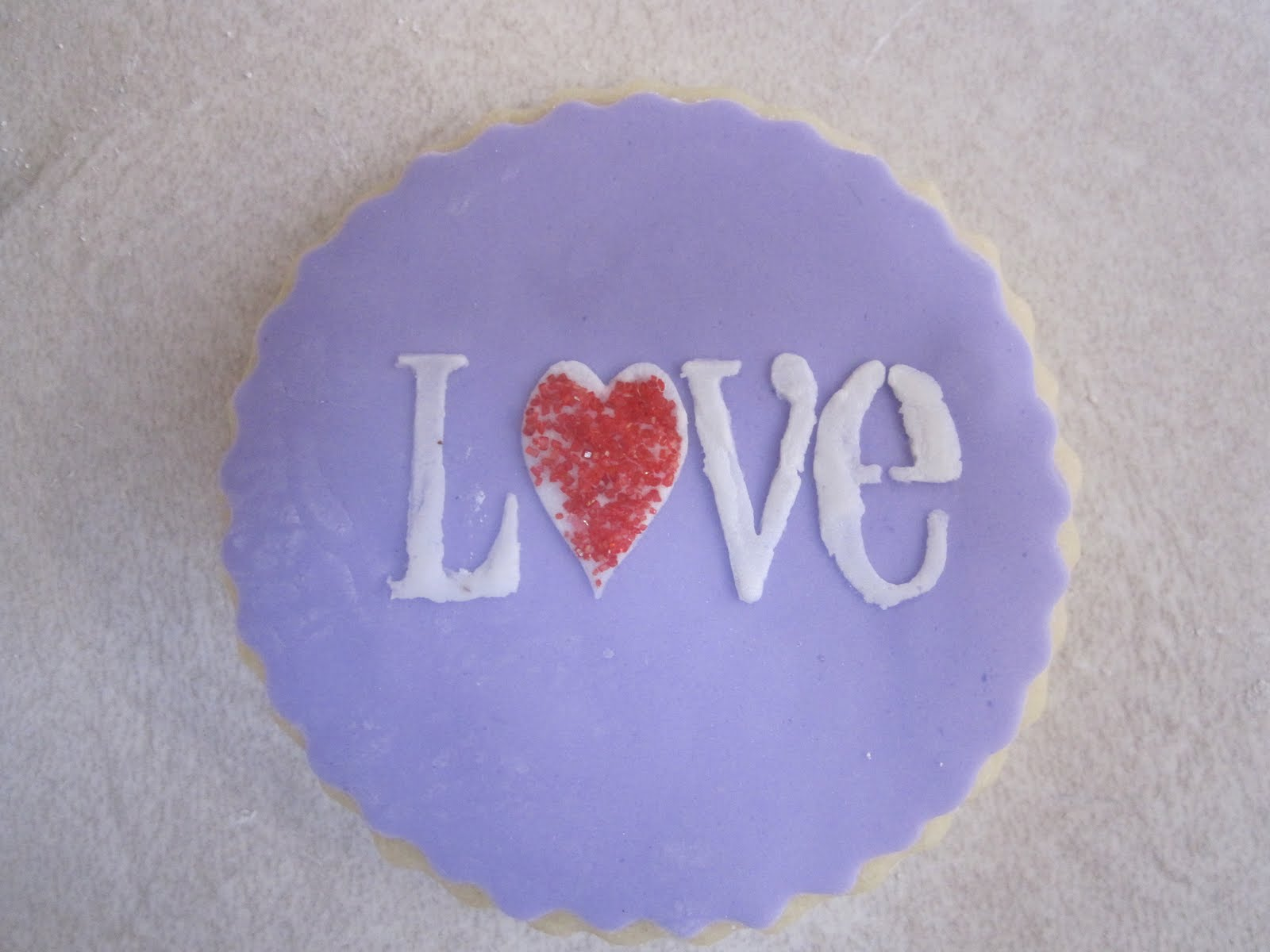love stencil cookie