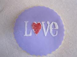 love stencil cookie