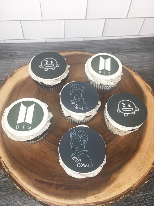 BTS Cupcake Toppers
