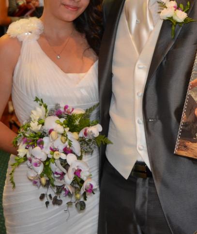 Ramo de novia con caída
