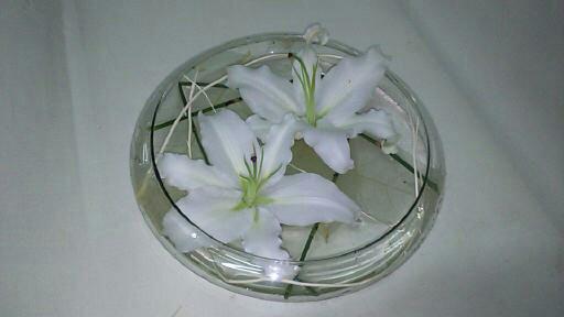 Cristal con lilium