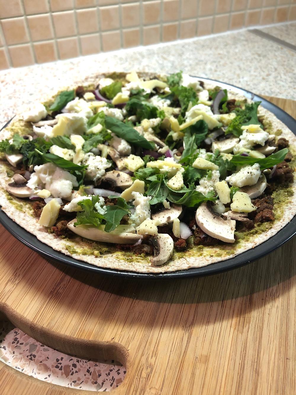 Vegetable takeaway pizza
