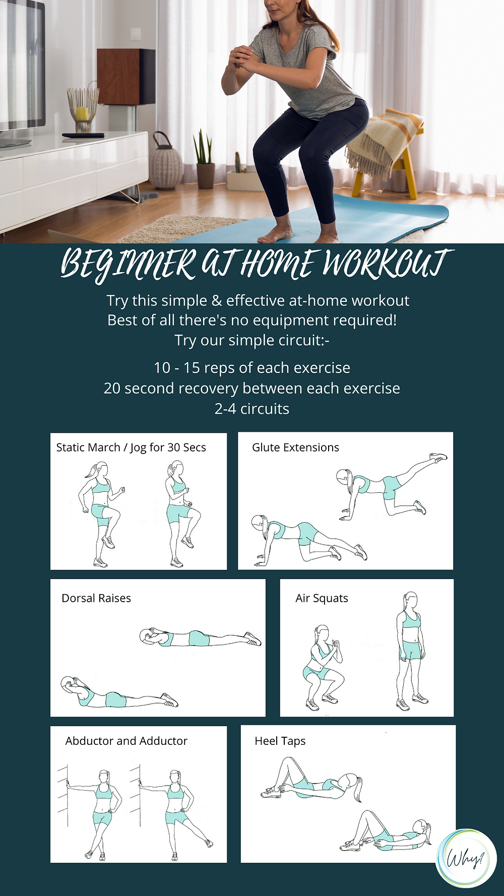 Beginner at home exercise routine