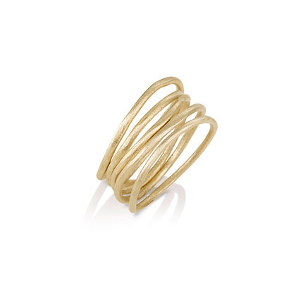 Layers of Love Gold Rings