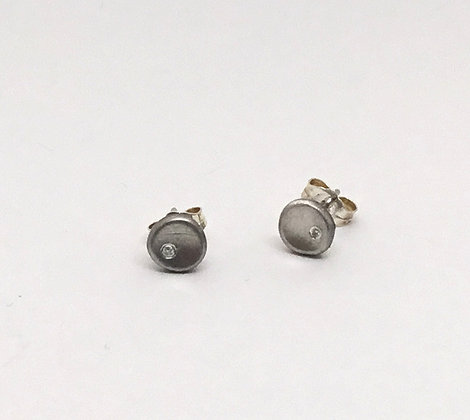 Pool of Light Earrings with Diamonds