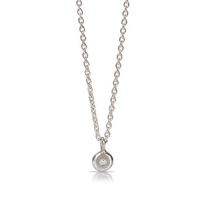 Sterling Point of Light with Diamond Necklace