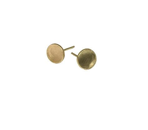 Gold Pool of Light Stud Earrings