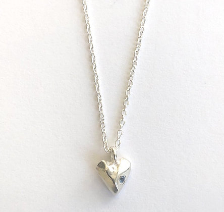 Silver Hearts with Birthstone Necklaces