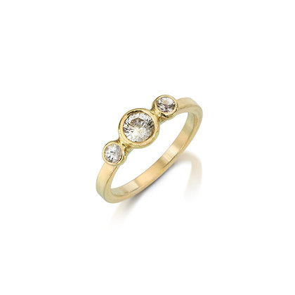 Triple Diamond Radiance Ring