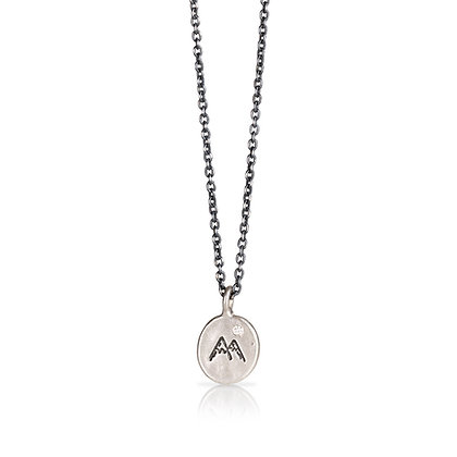 Silver Mountain Pendant with Diamond