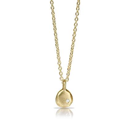 Gold Joy Drop Necklace with Diamond
