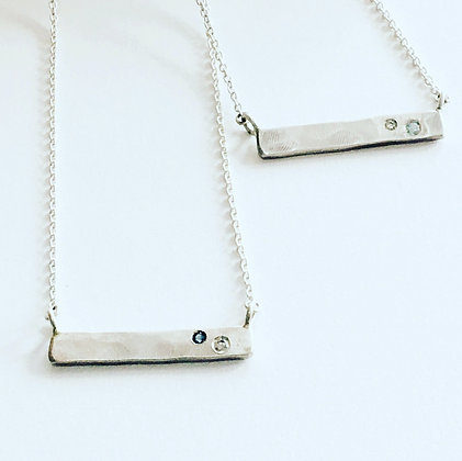 Bar Necklace with Diamond