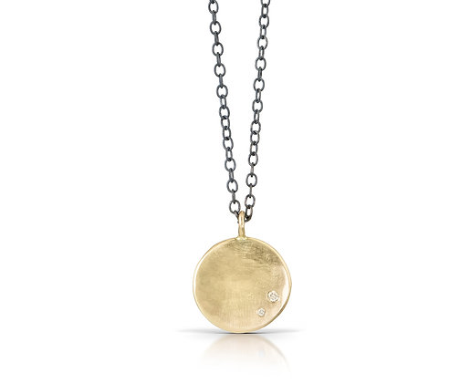 Abundance Coin Necklace with Diamonds