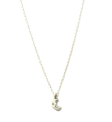 Little Moon Necklace with Diamond