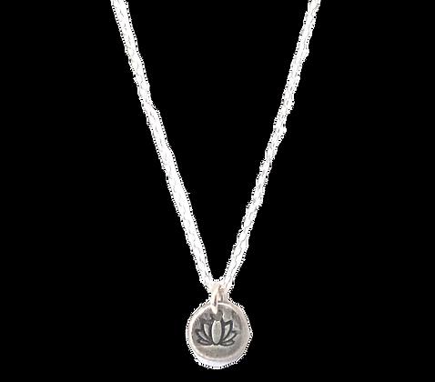 Lotus Charm Necklace