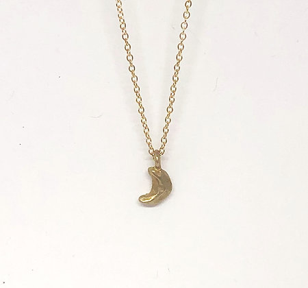 Faceted Moon Necklace