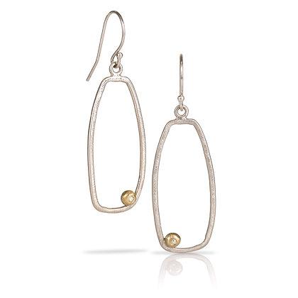Gentle Geometrics Earrings with Gold & Diamonds