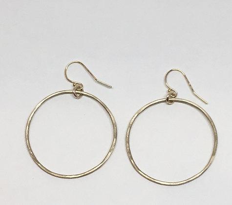 Golden Fall Hoop Earrings