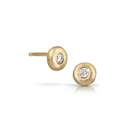 Petite Diamond Stud Earrings