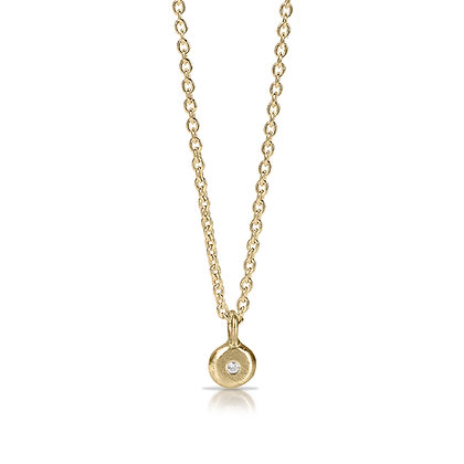 Gold Point of Light with Diamond Necklace