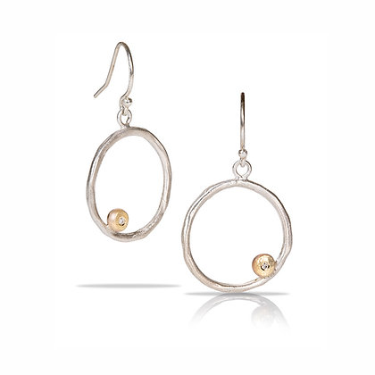 Infinite Love Hoops with Gold & Diamond