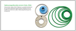 Fødevaregodkendt gummi FDA