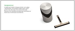 Designemne med gummi, silikone RAL
