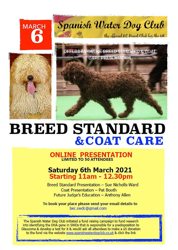 Spanish Water Dog Breed Appreciation Day for Porspective Judges and Owners