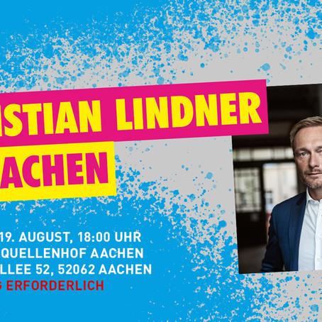 Christian Lindner kommt nach Aachen