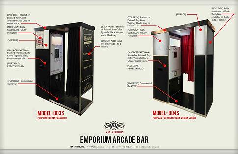 Beercade Photo Booth options Emporium Arcade