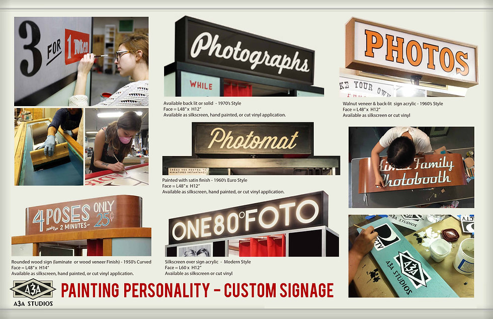 vintage style hand painted photo booth sign