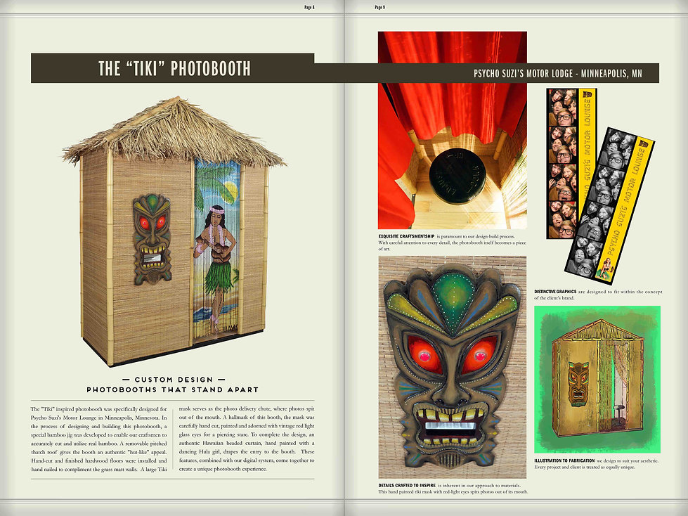 tiki photobooth for Psycho Suzies in Minneapolis designed by Meags Fitzgerald