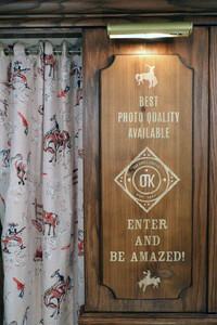 Western theme photobooth