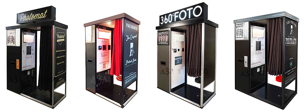 retro oldschool photobooth design