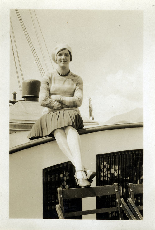 Young Woman On A Boat