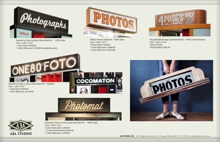Custom Photobooth Sign Examples - 1