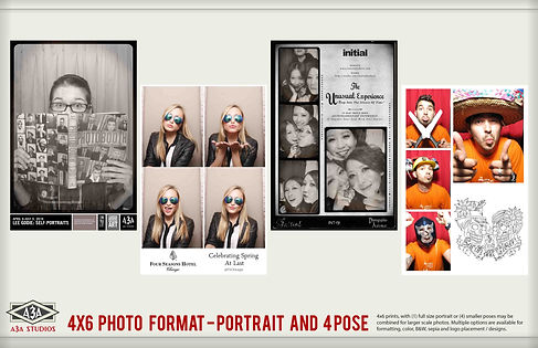 Large format photobooth photo strips photomatic portrait style